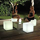Denzihx Outdoor Party Stool <span class='highlight'>Light</span> <span class='highlight'>Chair</span>,Waterproof Party [meeting] <span class='highlight'>Bar</span> Creative Color Remote control Led Charging-A 10x10x10cm