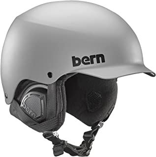 Bern Bern Baker MIPS Snow Helmet (Matte Grey MIPS with Black Liner, Small)