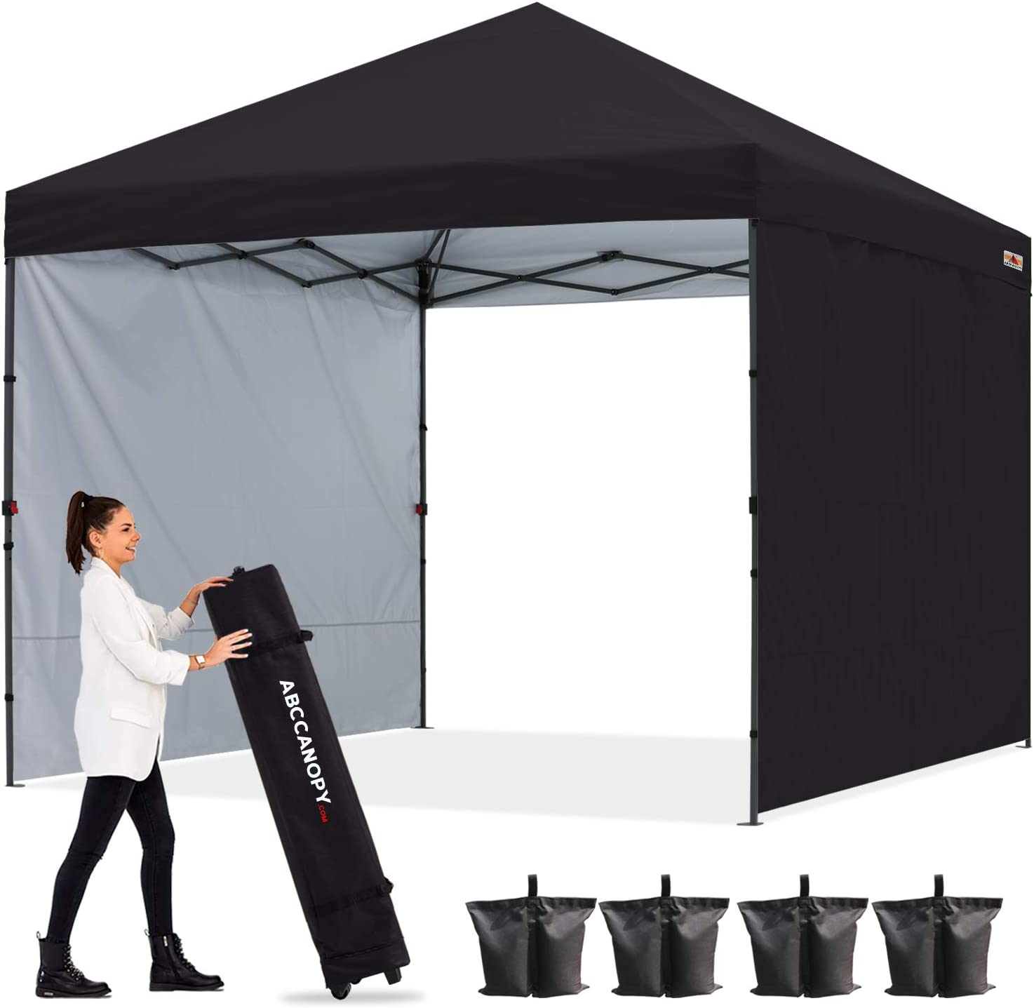 ABCCANOPY Outdoor Easy Pop up Canopy Tent Indianapolis Mall B free with 8x8 Wall 2 Sun