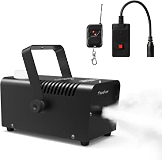 Fog Machine, Theefun 400W Smoke Machine with 2000CFM Fog, Wired and Wirelss Remote..
