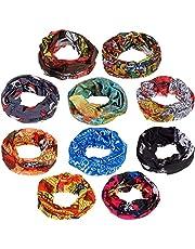 Generic Bandana Headwear Magic Scarf for Men and Women (Multicolour, Free Size) - 10 Pcs
