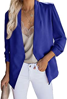 Howely Womens Casual Open Front Cardigan Loose Winter Fall Small Blazer