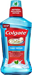 Colgate Total Daily Repair CPC Mouthwash With Fluoride, Fresh Mint, 1 L