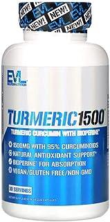 EVLution Nutrition Turmeric 1500-90 Veggie Capsules