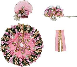 Pink Designer Cloth for Lord Krishan Ladu Laddu Gopal Kanaiya Bal Krishna Dress Poshak Vastra for Little Metal Idol Statue...