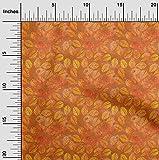 oneOone Viskose Chiffon Orange Stoff Batik Diy Bekleidungs