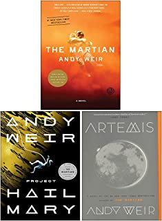 Andy Weir 3 Books Collection Set(Project Hail Mary [Hardcover], Artemis, The Martian)