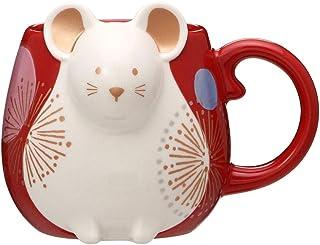 STARBUCKS スターバックス スタバ ニューイヤーマグ ねずみ 355ml マグカップ 和 和風 ねずみ 鼠 干支 新年 レッド 日本 japan 2020年 コップ 陶器 コーヒー
