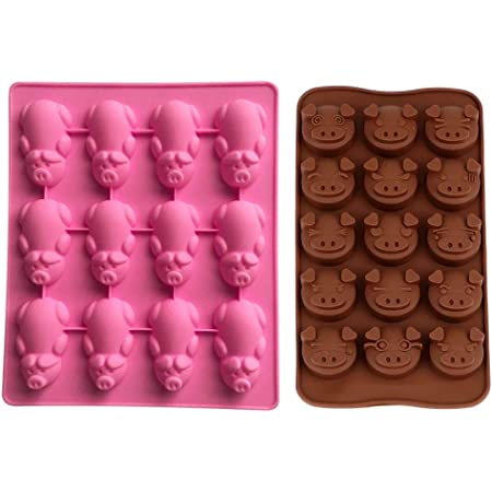 A098 Includes Melting /& Chocolate Molding Instructions 3D Pig Chocolate Mold