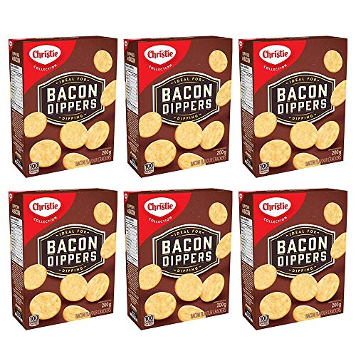 Christie Bacon Dippers Crackers, Ideal for Dipping, 200g/7.05oz, 6-Pack {Imported from Canada}