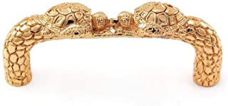 Vicenza Designs K1059 Pollino Turtle Pull, 3-Inch, Polished Gold