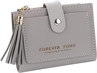 Dreamyth Women Small Leather Wallet Card Holder Bag Zip Coin Purse Clutch Handbag