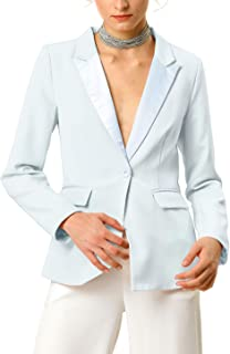 Allegra K Women's Casual Notched Lapel Elegant Work Office Blazer Jacket