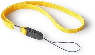 trage.band® Korte draagriem/polskoord/wrist strap, 5 stuks (geel)