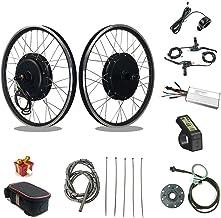 RICETOO Kit de conversación de Bicicleta eléctrica48V 1500W Rueda de Motor de Cubo con KT LCD4 Motor de Rueda de Casete Trasero Kit de conversación de Bicicleta eléctrica E