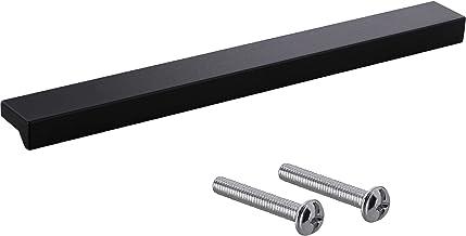 Gedotec Greeplijst van massief aluminium, ladegreep in zwart, hoekle, design meubelgreep voor schuifladen met lengte: 600 ...