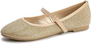 Girls Ballerina Flat Mary Jane Slip-on Dress Shoes...