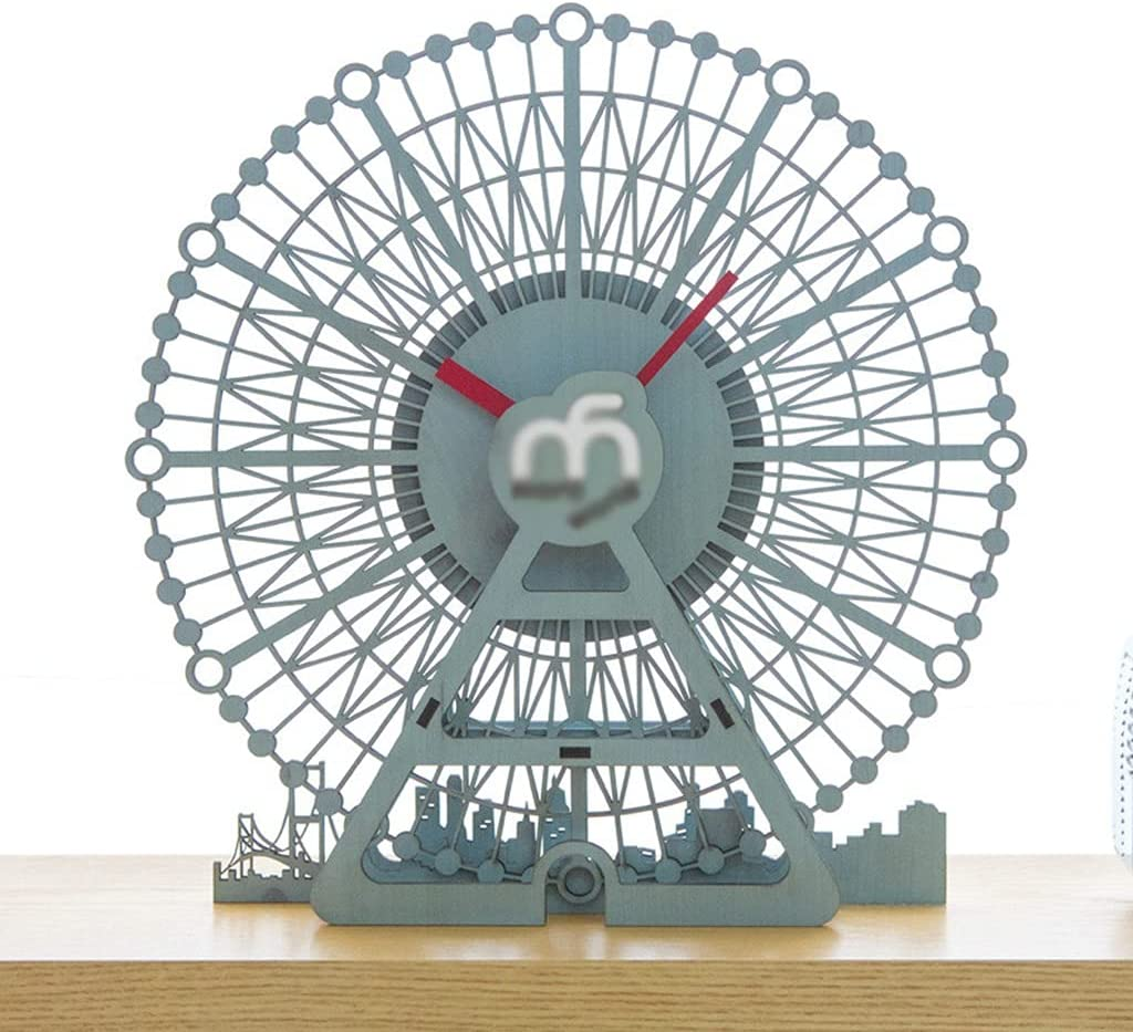 Free shipping anywhere in the nation Ferris Wheel Super beauty product restock quality top Toy 3D Model Desk Diameter Inch Clock Alarm 10 and