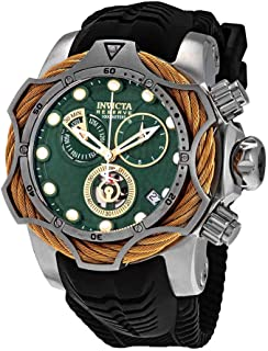 Reserve Green Dial Men's Chronograph Rubber Watch 27710
