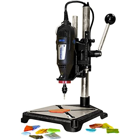 Milescraft 1097 ToolStand - Drill Press Stand (compatible with Dremel),Black, Large
