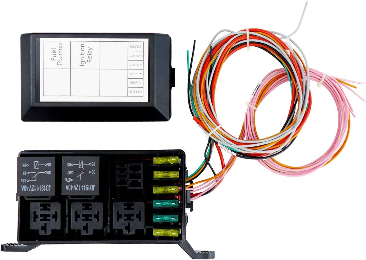 Swap Relay and Fuse Box Block Kit,Standalone Wiring Harnesses LS40400 40400.400 400.400  40.40 LSx,Waterproof Light Equipment,Relay Sockets and Fuse Holders with Wire  ...