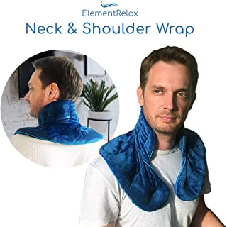 Weighted Therapy Neck & Shoulder Pillow Wrap | Aromatherapy Herbal Microwaveable Heating & Cooling Pads for Relax and Relief