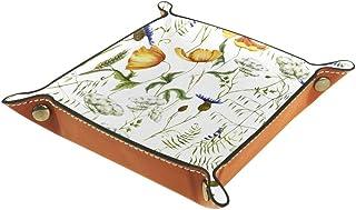 Boîte de rangement pliable en cuir PU pour bureau de couleur - Table carrée de jeu de table de jeu - Porte-monnaie - Porte...