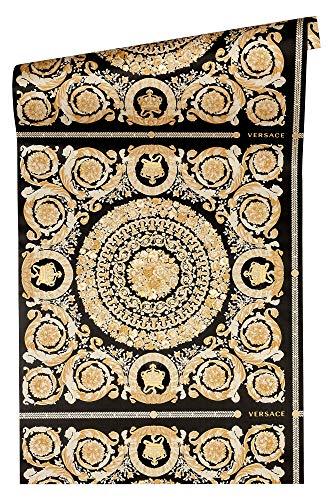 Versace wallpaper Vliestapete Heritage Luxustapete mit Ornamenten barock 10,05 m x 0,70 m metallic creme beige Made in Germany 370553 37055-3
