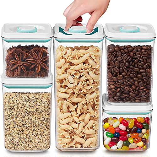 Dry Food Storage Containers with Airtight Lids,Cereal Container Set For Fridge and Pantry, BPA-Free,Freezer and Dishwasher Safe (2.2Qt/1.3Qt/0.7Qt)