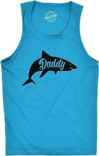 Mens Fitness Tank Daddy Shark Tanktop Funny Viral Kids Song Shirt