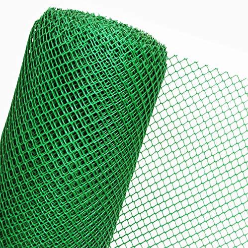 HaGa® Zaun Gartenzaun Geflügelzaun in 1,2m Höhe Masche 20mm grün (Meterware)