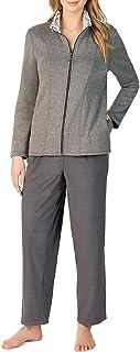 Cuddl Duds Fleece Jacket Lounge Set Color: Charcoal (XXL)