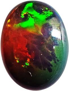 Cabochon en opale noire naturelle de qualité AAAA+, opale éthiopienne, taille 17 x 12 x 5 mm, dos plat, lisse et polie, op...