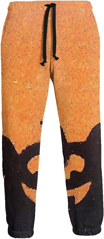 Baltimore Mall Men's The Devil Pumpkin Athletic Fleec Ranking TOP11 Waist Elastic Sweatpants