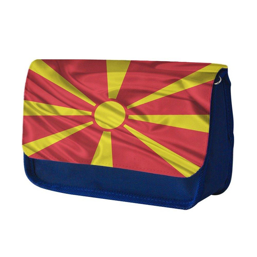 Banderas macedonia, Saludar con la mano, Azul Escuela Niños Sublimación Alta calidad Poliéster Estuche de lápices con Diseño Colorido. 21x13 cm.: Amazon.es: Oficina y papelería