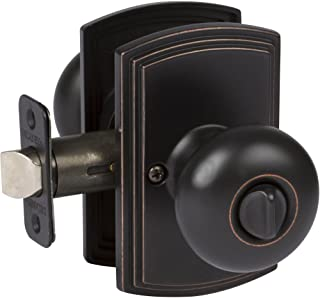 Delaney Hardware 102T-SN-US10BE-Privacy Santo Knob Privacy, Edge Oil Rubbed Bronze