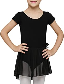 Sponsored Ad - MdnMd Toddler Girls Ballet Dance Leotards with Skirt Ballerina Outfit Dress Short Sleeve