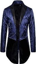 Charm Mens Tailcoat Jacket Goth Steampunk Uniform Fit Suit Cardigan Outwear Coat