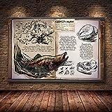 mmzki Dinosaurier Ölgemälde Online-Spiel Leinwand Poster dekorative Wandbild Tapete Wohnzimmer Dekoration