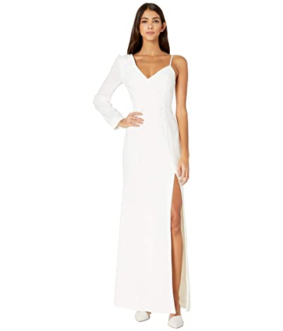 BCBGMAXAZRIA One Sleeve Gown (Off-White) Women