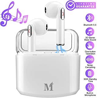 Wireless Earbuds,Bluetooth Earbuds Wireless Earphones Noise Cancelling with Mic Charging Case,Sport Running Mini True Stereo Earbuds Bluetooth Compatible Android Samsung Huawei Phones X 8 7
