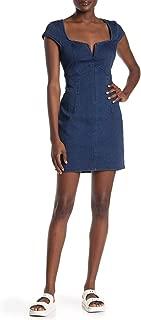 Free People Women's Lia Denim Mini - Blue