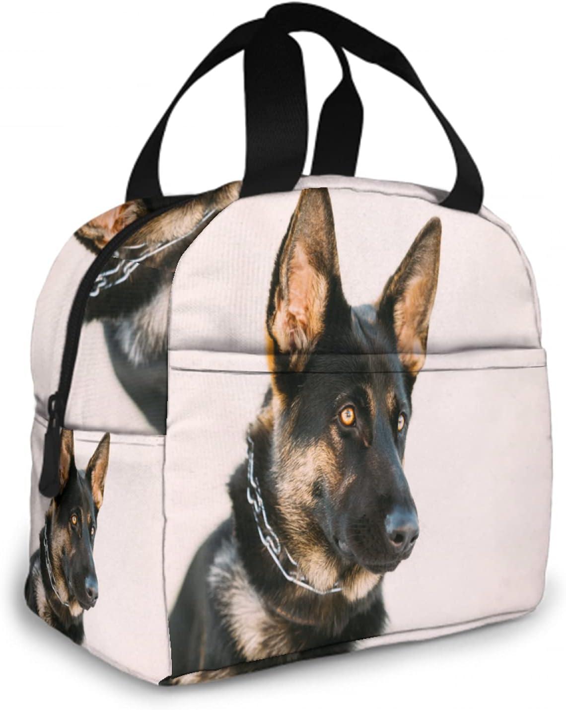 OcuteO Lunch Bags For Women Men German Shepherd Dog Cool Pet Uni