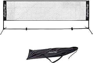 Display4top Juego de Red de Tenis bádminton portátil desplegable Ajustable - Red para Tenis, Pickleball, Voleibol para niños - Red de Deportes de fácil instalación con Postes de Nylon
