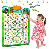 NARRIO Educational Toys for 2 3 4 Year Old Boys Gifts, Interactive Alphabet Wall Chart Learning ABC Talking Poster for Kids Age 2-5, Birthday Gifts for 2-4 Year Old Girls Toys for Toddler Age 1-3