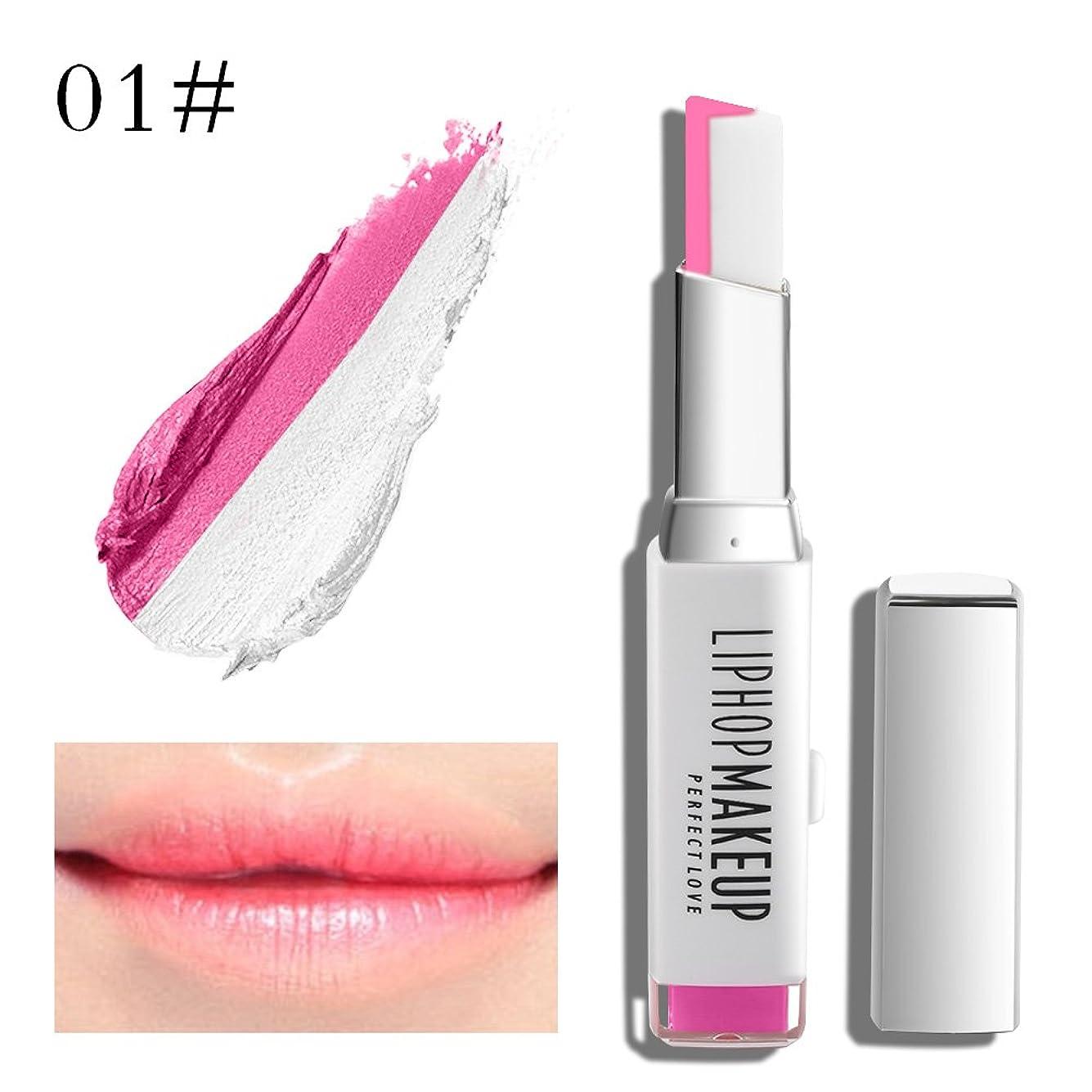 オール見える珍味1 PC Popular Waterproof Women Multicolor New Two Tone Lipstick #1