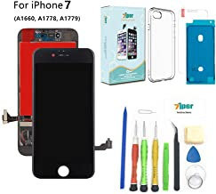 Screen Replacement for iPhone 7 (4.7 inch) - 3D Touch LCD Complete Repair -LCD Touch Digitizer Display Glass - Free Cover,Waterproof Adhesive,Tempered Glass,Tools,Instruction (Black)