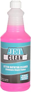 Jetted Tub & Spa Cleaner, Jet Clean, 32 Ounce Jetted System Cleaner - 16 Treatments per bottle- Easily Eliminate Black Flakes - Cleans Hot Tubs, Spas, Jacuzzis, Bath Tubs and Jetted Systems