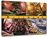Ultras Dortmund Collage, Bild auf Leinwand XL, fertig