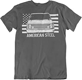 Squarebody T-Shirt with Square Body Chevy GMC Truck and American Flag